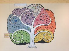 All school art project. Great for team building at beginning of year. Collaborative Art Projects, School Art Projects, Art School, Art History Lessons, Art Lessons, Identity Art, Arts Ed, Art Classroom, Art Club
