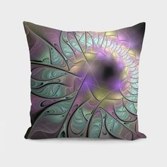 Discover «Beautiful fractal», Numbered Edition Throw Pillow by Anna Maloverjan - From $27 - Curioos  excitement, passion, careless, enigmatic, abstract, background, fractal, spiral, glow, multicolored, design, light, element, creative, graphic, illustration, lines, art, concept, render, technology, style, structure, shape, power, idea, modern, motion, chaos, geometric, futuristic, architecture, wallpaper, effect, magic, surreal, phantasm, science fiction, fantasy, composition, pattern, shine
