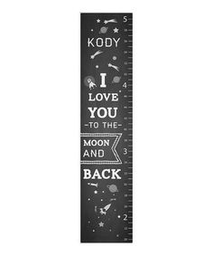 'The Moon' Chalkboard Personalized Growth Chart by Sunny & Bliss on #zulily
