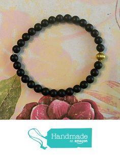 Simple Unisex Beaded Stretch Bracelet with Black Onyx Beads from Ambie's Bead Boutique https://www.amazon.com/dp/B015N9DWF2/ref=hnd_sw_r_pi_dp_pPclwb4GQ6FC8 #handmadeatamazon