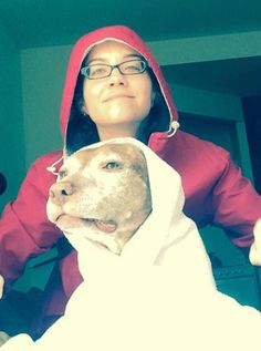 15-Year-Old Pit Bull Perfectly Poses To Recreate Iconic Movie Scenes (Photos)