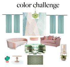 """green n blush decor"" by whitecastlenine on Polyvore featuring interior, interiors, interior design, home, home decor, interior decorating, Umbra, Anthropologie, Sandberg Furniture and colorchallenge"