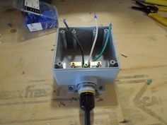 DIY Extension Cord With Built in Switch - Safe, Quick and Simple : 5 Steps - Instructables Electrical Wiring Outlets, Electrical Work, Electrical Installation, Electrical Engineering, Conduit Box, Extension Cord, Home Repairs, Cool Tools, Plates On Wall