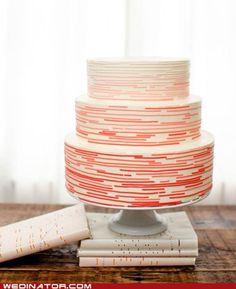 morse code wedding cake