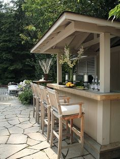 backyard entertaining area