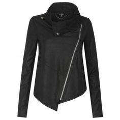 Muubaa-Alexis-Drape-Suede-Jacket-in-Black-RRP-299-UK-10
