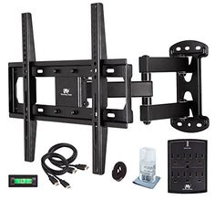 Mounting Dream TV Wall Mount Bracket Kit with Surge Protector, 2 HDMI Cables, Magnetic Bubble Level and Anti-static Screen Cleaning Gel for TVs upto Inches and VESA Best Tv Wall Mount, Tv Wall Mount Bracket, Wall Brackets, Wall Mounted Tv, Mount Tv, 55 Inch Tvs, Samsung Televisions, Audio, Plasma Tv