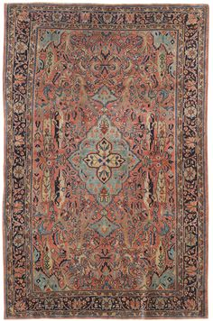 Antique Sarouk Rugs Gallery: Antique Sarouk Rug, Hand-knotted in Persia; size: 4 feet 4 inch(es) x 6 feet 5 inch(es)
