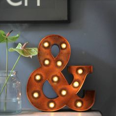 St Aidan's Homeware Store Ampersand Marquee Light ($125) ❤ liked on Polyvore featuring home, lighting, circus lights, vintage lamps, vintage light, vintage lighting and vintage marquee lights