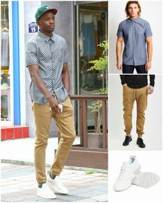 how to wear joggers short sleeved shirt
