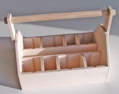 Wood Tool Box or Art Caddy LARGE Ready by BurrRidgeWoodProduct