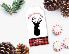 Christmas Gift Tag, Printable Christmas Gift Tag, Printable Tag, Editable Christmas gift tag, DIY Printable INSTANT DOWNLOAD