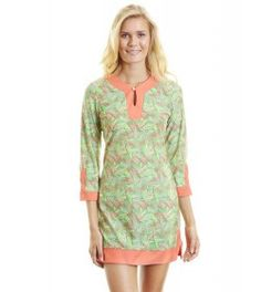 Ladies Beach Tunic, Palm Breeze - UPF50+
