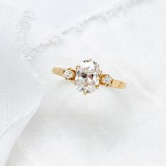 Victorian Rose Gold Three Stone Old Mine Cut Diamond Ring | Runnymede – Trumpet & Horn Diamond Stone, Diamond Cuts, Three Stone Engagement Rings, Victorian Era, Trumpet, Natural Diamonds, Rose Gold, Stud Earrings, Prong Set