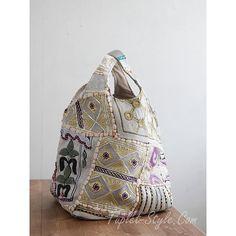 画像1: 【 セール品 】■スペイン imayin 全面織り生地パッチワークの装飾のバケツ型バッグ カシオペア
