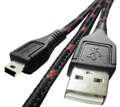 Cloth Jacketed / Ruggedized USB 2.0 A Male to Mini B Cable (6 feet) by Gator Crunch. $9.69