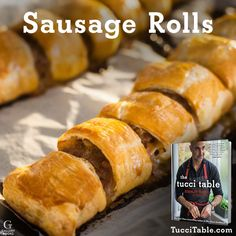 Recipe for Sausage Rolls from Stanley Tucci's new cookbook THE TUCCI TABLE