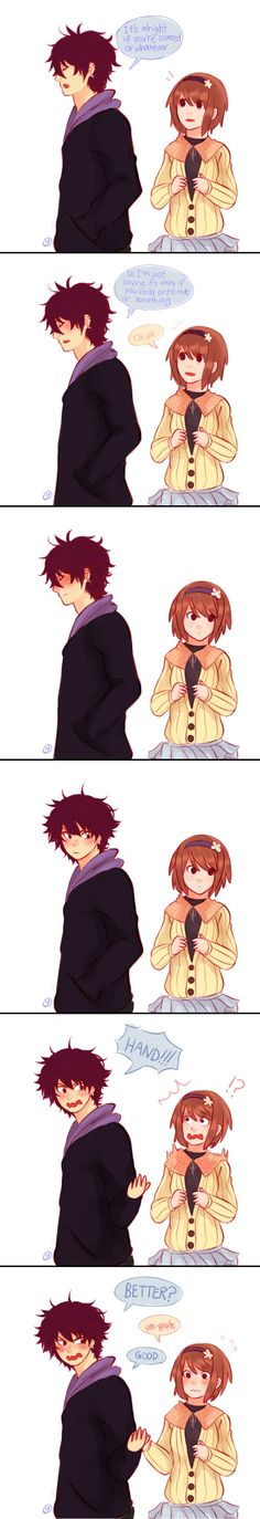 Ayato and Hinami by yanderchild, i think i might ship this now