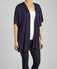 Look at this #zulilyfind! Navy Lattice-Back Open Cardigan - Plus by Simply Irresistible #zulilyfinds