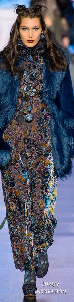 Anna Sui FW2017 Women's Fashion RTW | Purely Inspiration