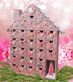 Kawaii Hello Kitty Wooden Advent Calendar by StardustKay on Etsy and like OMG! get some yourself some pawtastic adorable cat apparel!