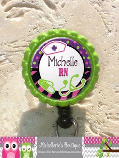 Personalized LPN Bottlecap Badge Reel Rn by MichelleriesBoutique, $9.50