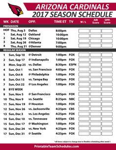 Arizona Cardinals Football Schedule 2017