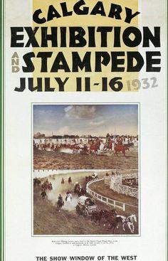 1923 Calgary Stampede Poster Art Calgary Vintage