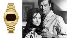Digital Watch From James Bond Film 'Live and Let Die' Is Back   Hollywood Reporter Hamilton Watch Company, Film Blue, Yul Brynner, John Huston, Rian Johnson, Johnny Carson, Sammy Davis Jr, Blue Hawaii, Roger Moore
