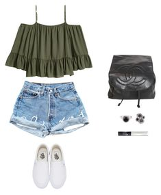 """""""Untitled #1730"""" by hannabs on Polyvore featuring Vans, Chanel, NOVICA and NARS Cosmetics"""