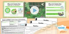 PlanIt - RE Year 2 - Nature and God Lesson 2: Creation Story 2 (Christianity) Lesson Pack - Creation, Christianity