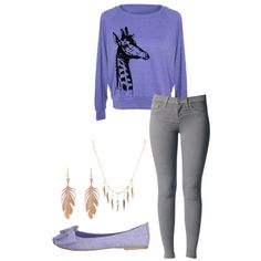 """purple giraffe"" by missbri2000 on Polyvore"