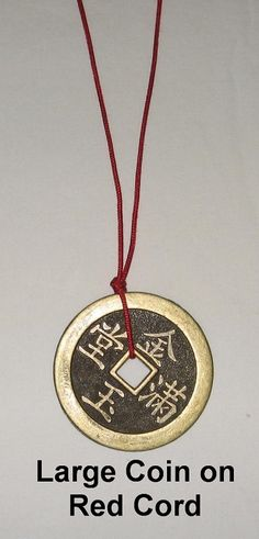 YoungerY Chinese Coins Fortune Coin Feng Shui Coins Lucky I-ching Coins with Red String