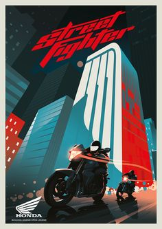 Three piece poster series to celebrate the rich history of Honda Motorbikes