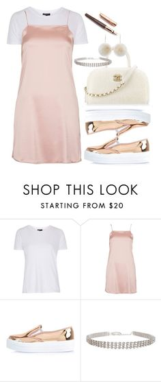"""""""rose gold"""" by dreamer3108 on Polyvore featuring Topshop, Oh My Love, River Island, Chanel, Humble Chic, New Look, Fountain, gold, simple and ootd"""