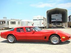 This Classic red 1980 Corvette was built by California Custom Coach Inc for Chevrolet and sold at Thompson Chevrolet in IL. in 1982. There were 5 created in 1980 by CCC and only 2 are left.