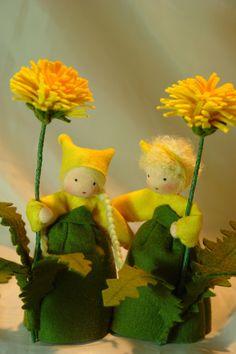 Dandelion Flower Child Waldorf Inspired by KatjasFlowerfairys
