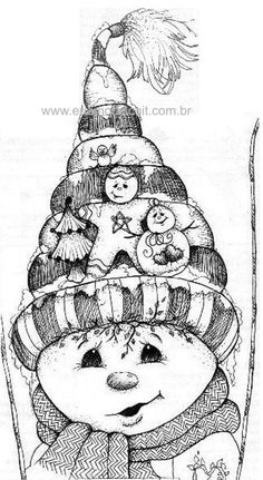 ::ARTESANATO VIRTUAL - Tecnicas de Artesanato | Dicas para Artesanato | Passo a Passo:: Snowman - Christmas Coloring Pages