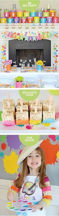 Go all-out messy for your child's next birthday with this art party theme. These creative activities, craft ideas, and cute DIY décor tips make for a day full of fun and artistic exploration!