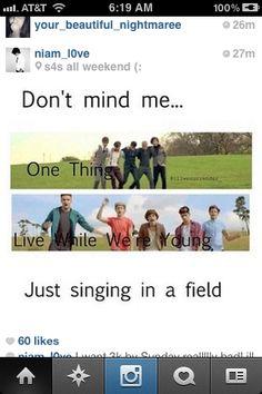 It's okay, Niall takes selfies in fields.