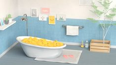 1 week project_ rubber duck   05 Bath  - personal work  tool: C4d