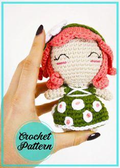 Doll Amigurumi Free Pattern, Amigurumi Toys, Bobble Stitch, Slip Stitch, Half Double Crochet, Single Crochet, Elf Doll, Dolls, Stitch Markers