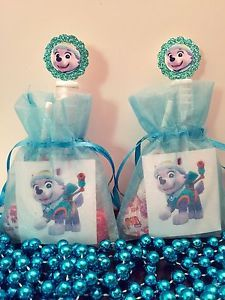 everest birthday party | Details about 12 Paw Patrol Everest Birthday Party Favor Bags Organza ...