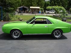 1968 AMC AMX, maybe in a different color. Maybe the sportiest of the late-60's muscle cars.