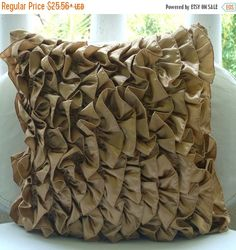 15% HOLIDAY SALE Designer Brown Pillow Covers by TheHomeCentric