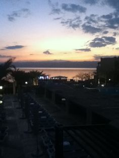 Sunset on the dead sea from Holiday Inn Resort