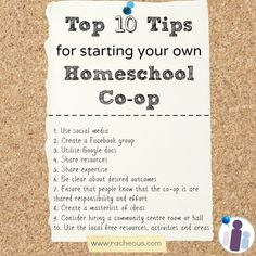 Top 10 Tips for starting your own Homeschool Co-op