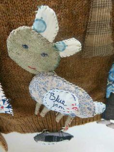 'Blue jam' brooch: Julie Arkell
