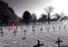 20 Best Ghost Pictures and Video of 2014: Scottish Soldier Cemetery Ghost
