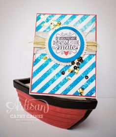 "You're My Best Mate by Cathy Caines using Hide Tide product Suite and ""Hello, Sailor"" stamp set. @Stampin' Up!"